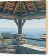 Wayah Bald Observation Tower - Macon County, North Carolina Wood Print