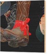 Waylon Jennings Boots Wood Print