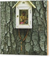 Wayside Shrine Wood Print