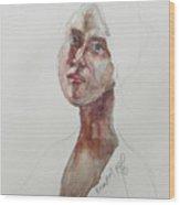 Wc Mini Portrait 7             Wood Print
