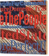We The People Of The United States Of America Wood Print