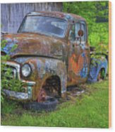 Wears Valley 1954 Gmc Wears Valley Tennessee Art Wood Print