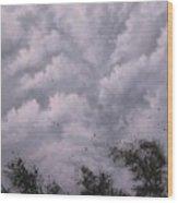 Weather Alert Wood Print