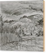 Weather Over Agua Caliente Wood Print