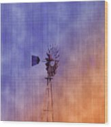 Weather Vane Sunset Wood Print