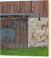 Weathered Barn Door Wood Print