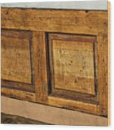 Weathered Bench - Santa Fe #2 Wood Print