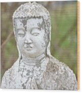 Weathered Buddha Statue Wood Print