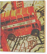 Weathered Bus Routes Wood Print