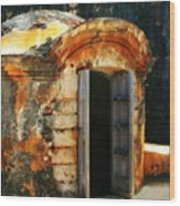 Weathered Entry Wood Print