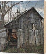 Weathered Old Abandoned Barn Wood Print