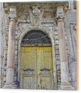 Weathered Old Artistic Door On A Building In Palermo Sicily Wood Print