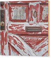 Weathered Red Door 1 Wood Print