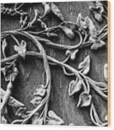Weathered Wall Art In Black And White Wood Print