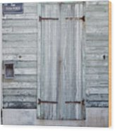 Weathered Wooden Door In France Wood Print
