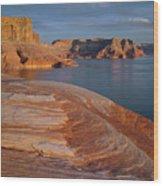 Weathering Pit Ridge Sunset Wood Print