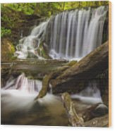 Weavers Creek Falls Wood Print