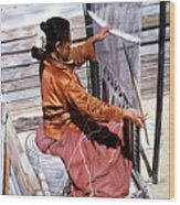 Weaver's Tale Wood Print