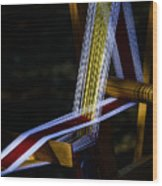 Weaving At Dawn Wood Print