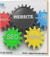 Web Design And Development Company In Adelaide  Wood Print