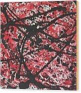 Web Of Fire Wood Print