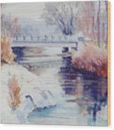 Weber River Bridge Wood Print