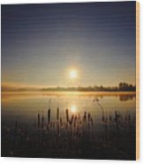 Webster Lake December Sunrise  Wood Print