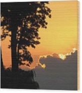 Webster Ny Sunset Wood Print
