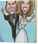 Wedding Cake Dolls Wood Print