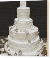 Wedding Cake Petals Wood Print