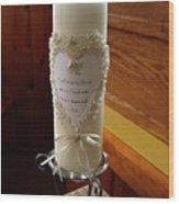 Wedding Candle  Wood Print