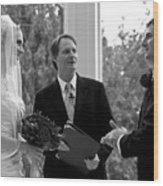 Wedding Couple Example Wood Print