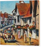 Wedding Day In Lavenham - Suffolk England Wood Print