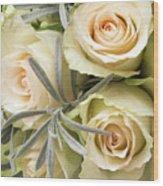 Wedding Flowers Wood Print by Wim Lanclus