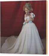Wedding Gown Wood Print