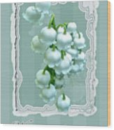 Wedding Happiness Greeting Card - Lily Of The Valley Flowers Wood Print