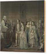 Wedding Of George Washington And Martha Wood Print by Everett