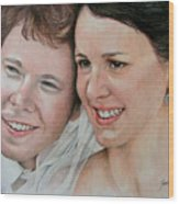 Wedding Portrait Wood Print