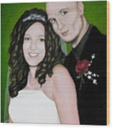 Wedding Portrait Of Clint And Ashley Wood Print