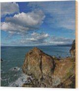 Wedding Rock Patrick Point Wood Print