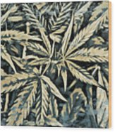 Weed Abstracts Four Wood Print