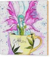 Weed Fairy Naptime Wood Print