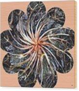 Weed Whirl Wood Print