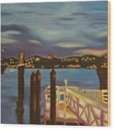 Weehawken From Pier 78 Wood Print by Milagros Palmieri