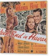 Week-end In Havana, Cesar Romero Wood Print by Everett