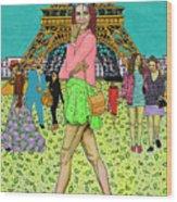 Weekend In Paris Wood Print