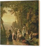 Weeping Of The Daughter Of Jephthah Wood Print