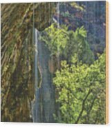 Weeping Rock - Zion Canyon Wood Print