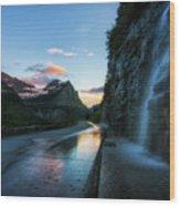 Weeping Wall At Dusk Wood Print