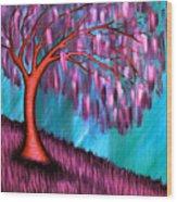 Weeping Willow II Wood Print by Brenda Higginson